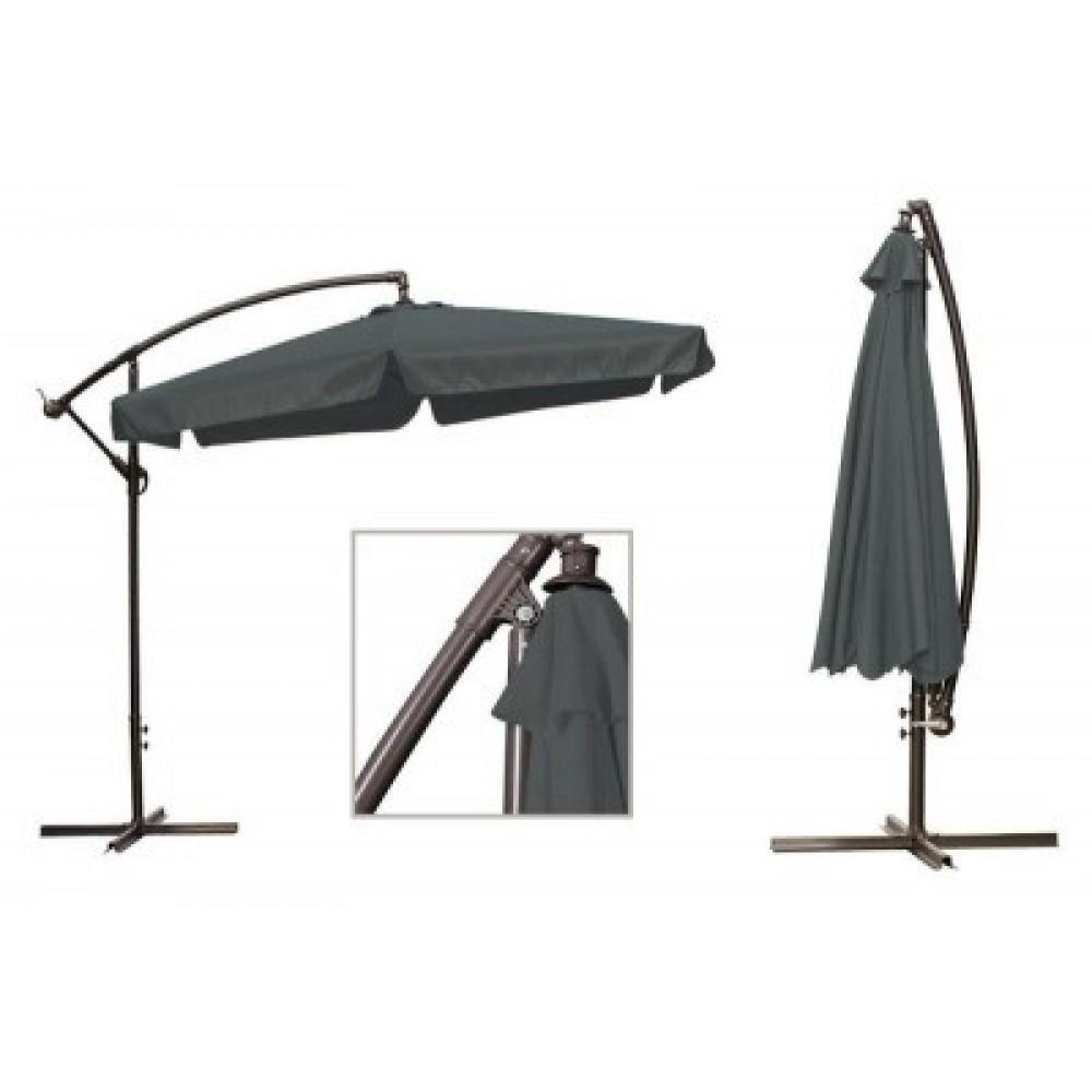 Садовый зонт Furnide, 3 метра, серый