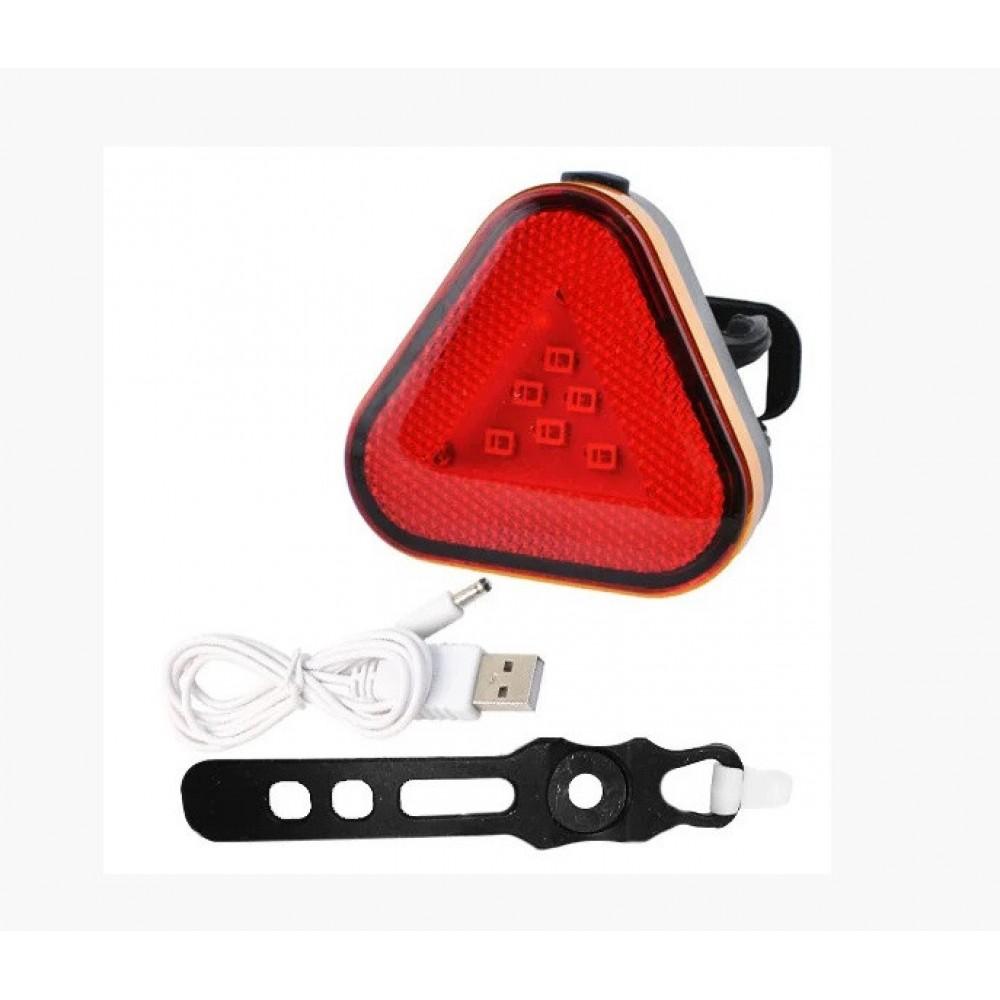 Велосипедный фонарь BSK-2288 9 LED задний габаритный micro USB, встроенный аккумулятор