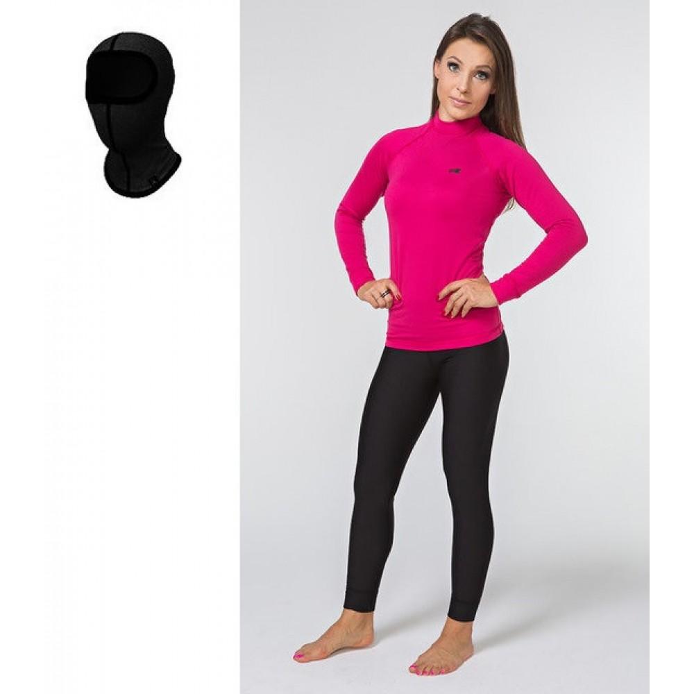 Женское спортивное/лыжное термобелье Radical Acres (original), теплое зимнее комплект, черно-розовый