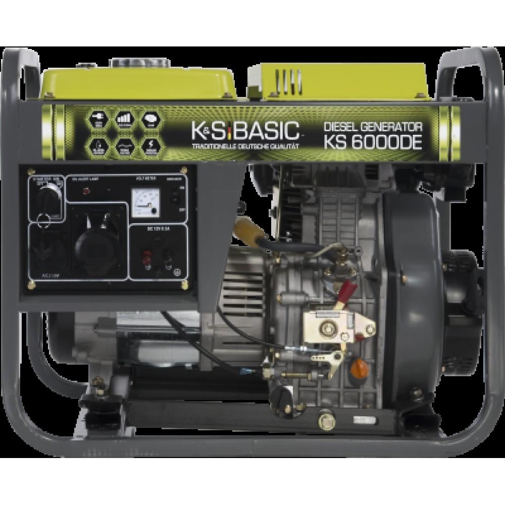 Генератор дизельный KONNER&SOHNEN BASIC KS 6000DE 5.5кВт однофазный Германия