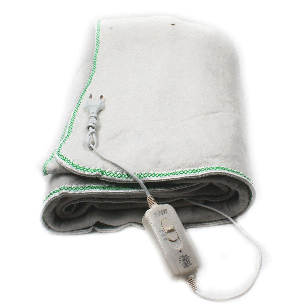Электропростынь Electric blanket 150*120 с сумкой белая