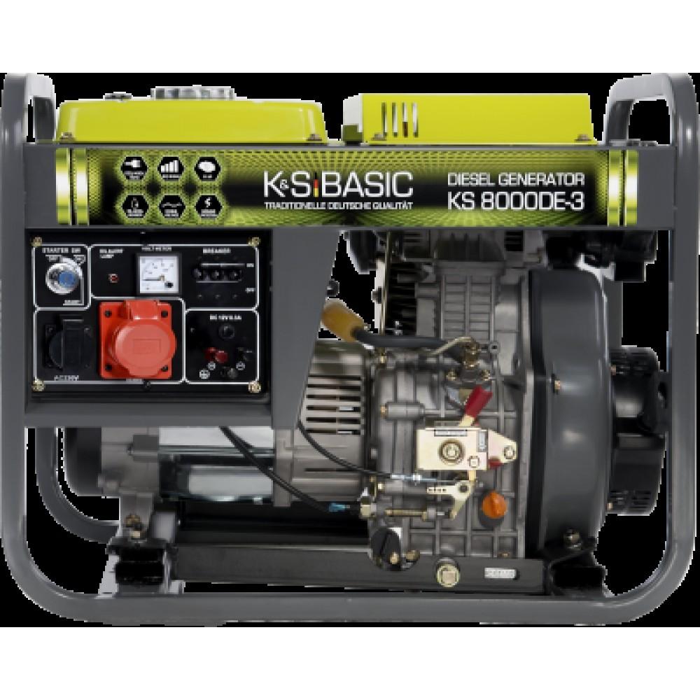 Генератор дизельный KONNER&SOHNEN BASIC KS 8000DE-3 6.5кВт трехфазный Германия