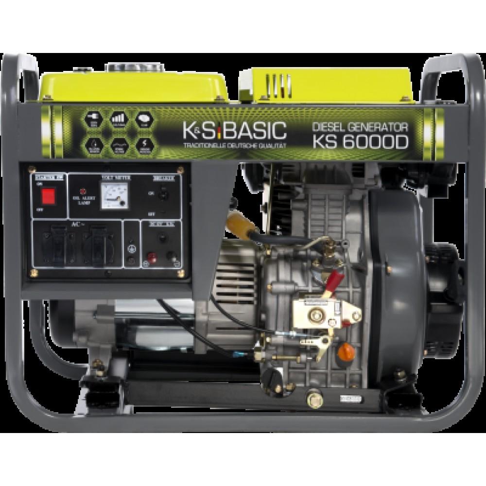 Генератор дизельный KONNER&SOHNEN BASIC KS 6000D 5.5кВт однофазный Германия