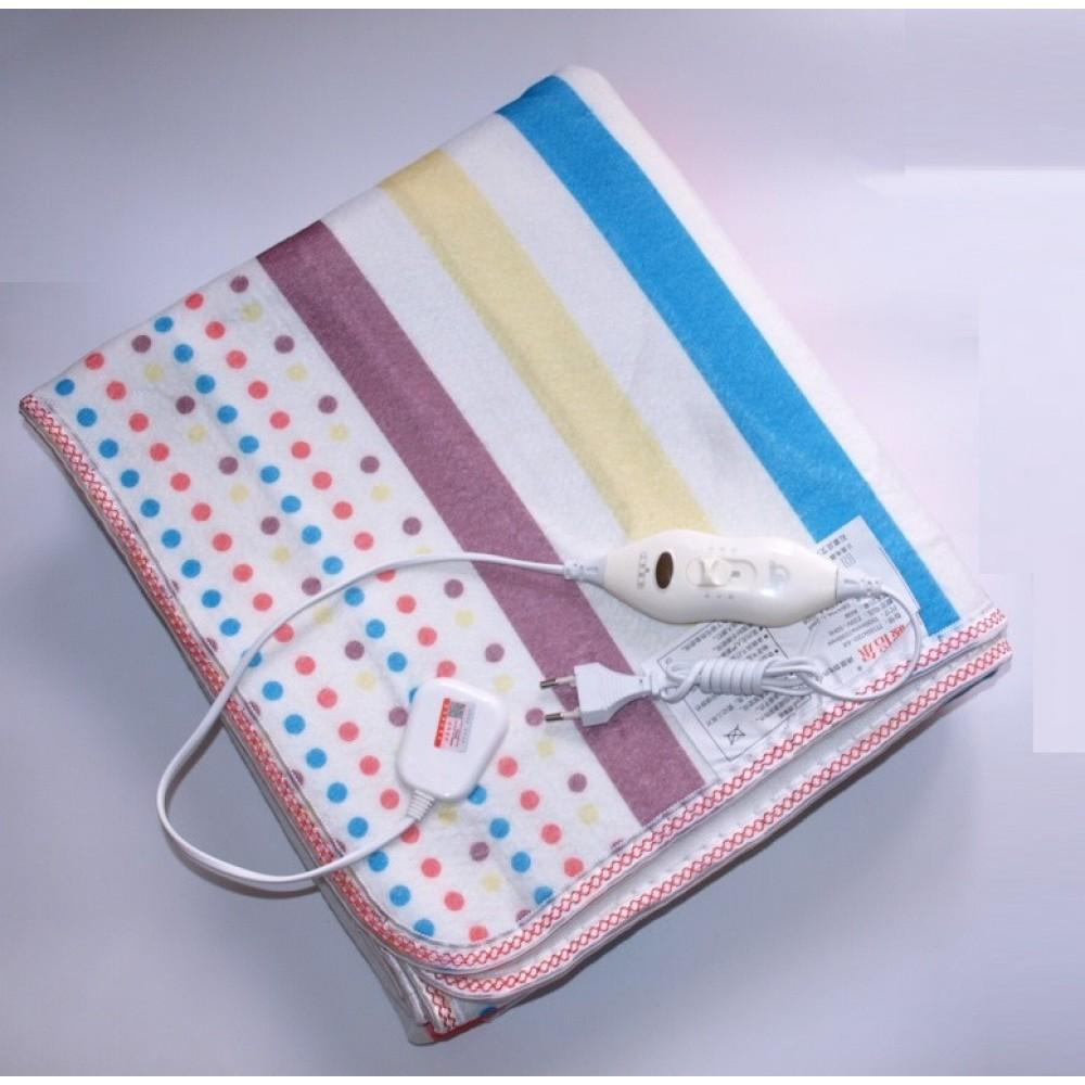 Электропростынь Electric blanket 150*120 с сумкой цветная