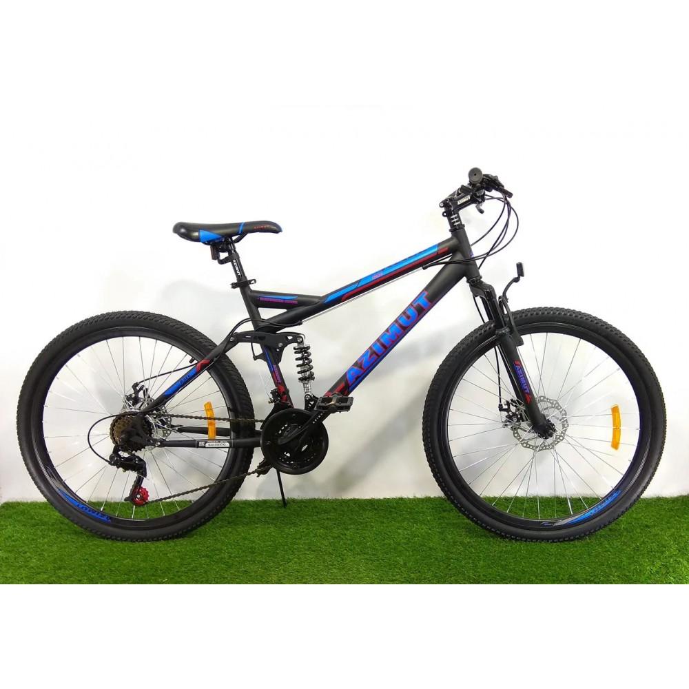 Двухподвесный велосипед Azimut Race 26 D+, рама 18