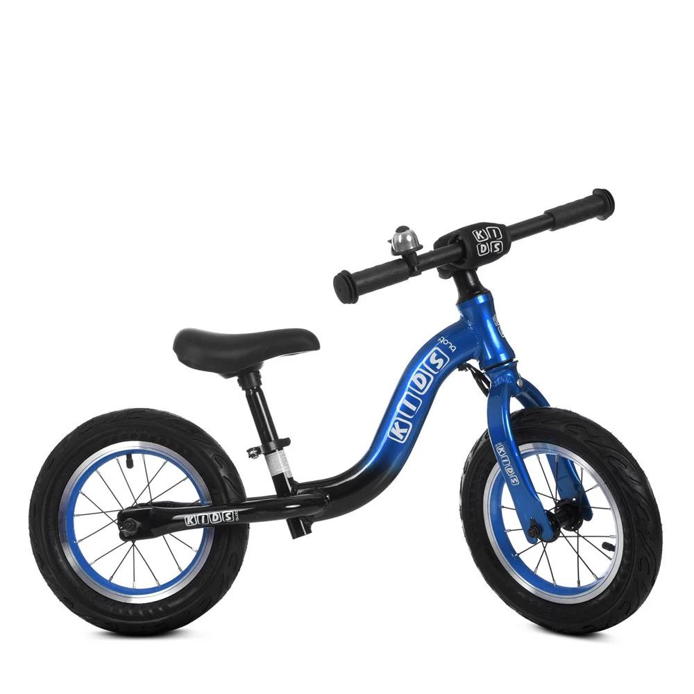 Детский беговел 12 дюймов Profi Kids ML1203A-3, черно-синий