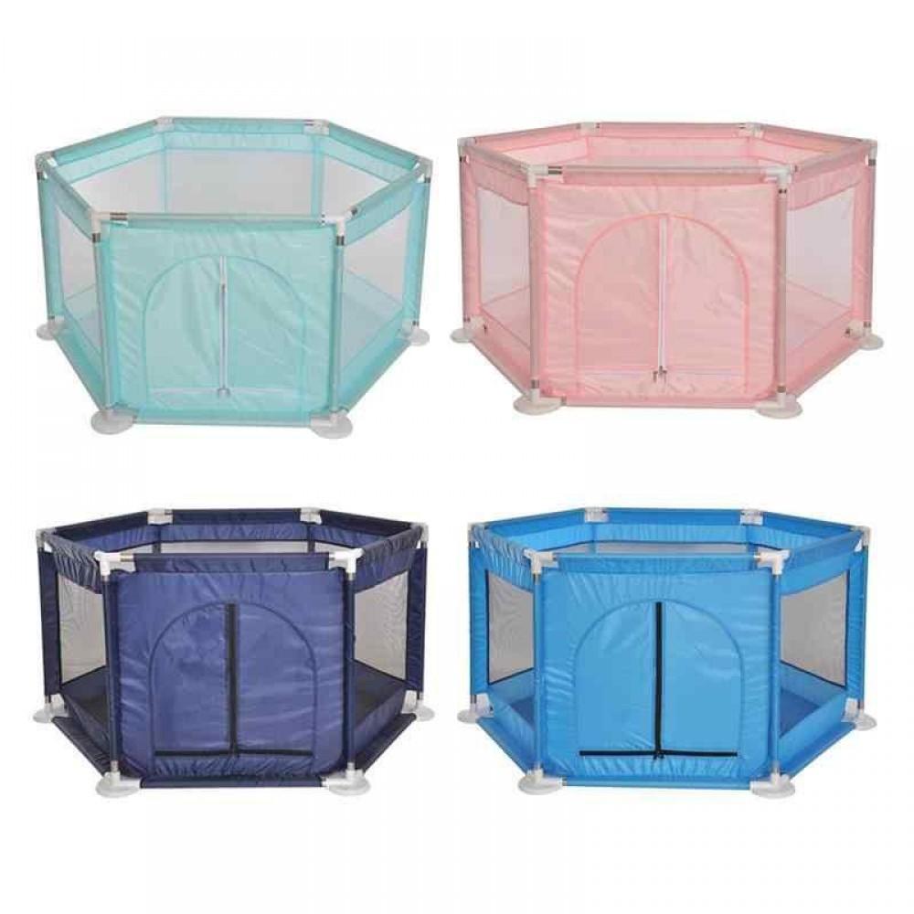 Манеж детский шестигранный 4 цвета