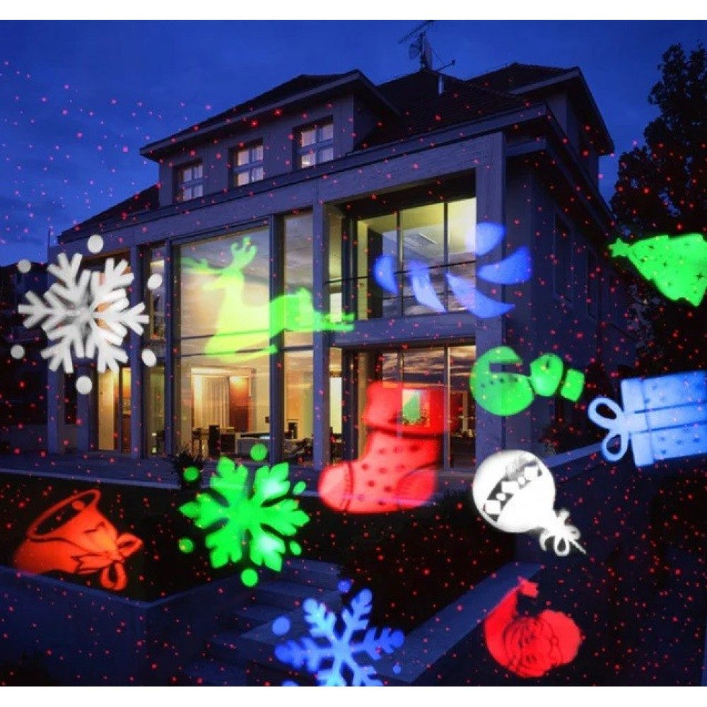 Лазерный проектор Star Shower SE326-02 разноцветные картинки 5024