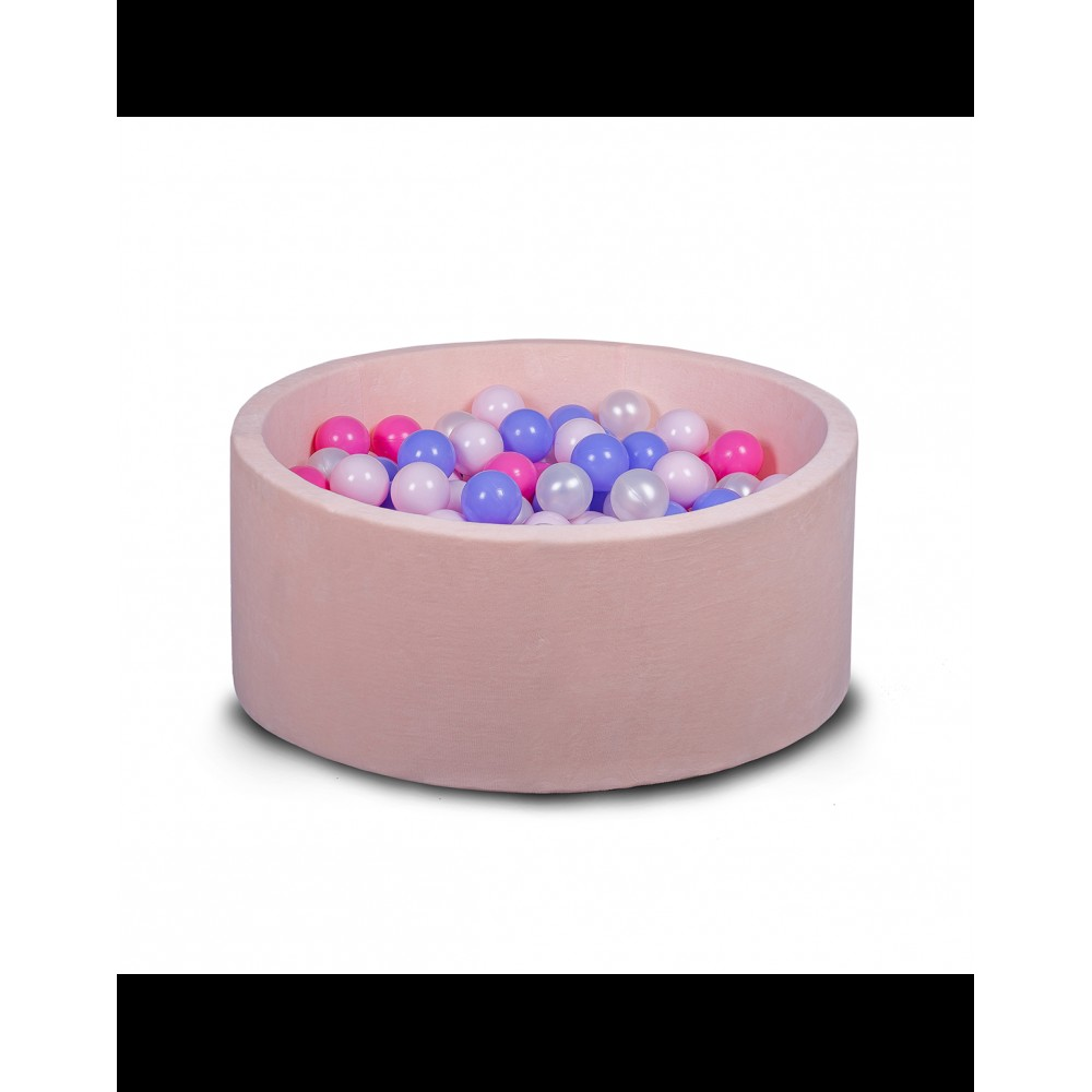 Бассейн для дома сухой 80 см, детский, нежно-розовый
