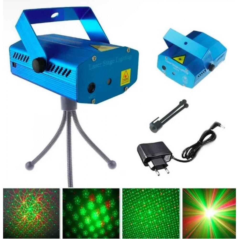 Лазерный проектор UKC HJ08 4 в 1 Blue 4053
