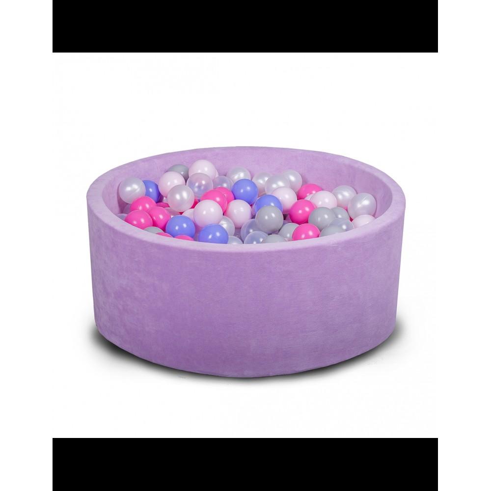Бассейн для дома сухой 80 см, детский, фиолетовый