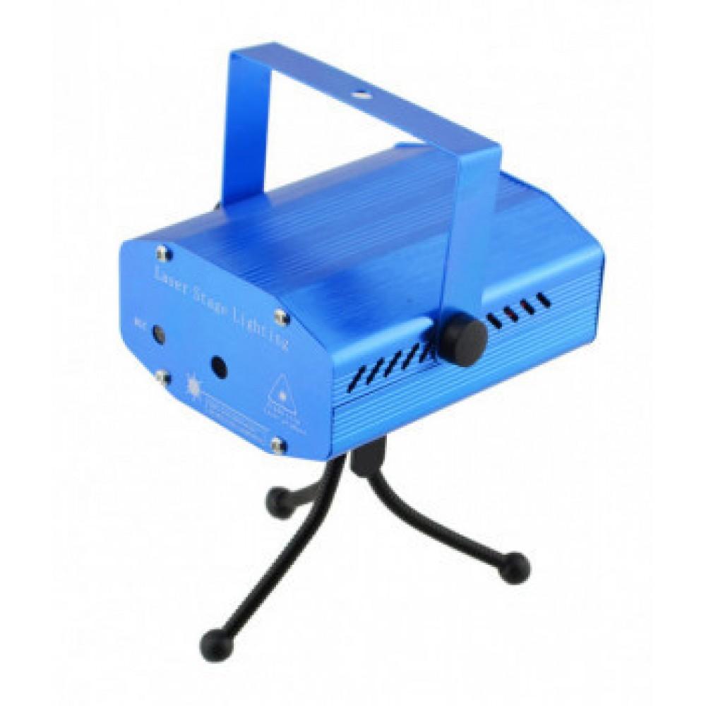 Лазерный проектор UKC HJ09 2 в 1 c триногой Blue 2481