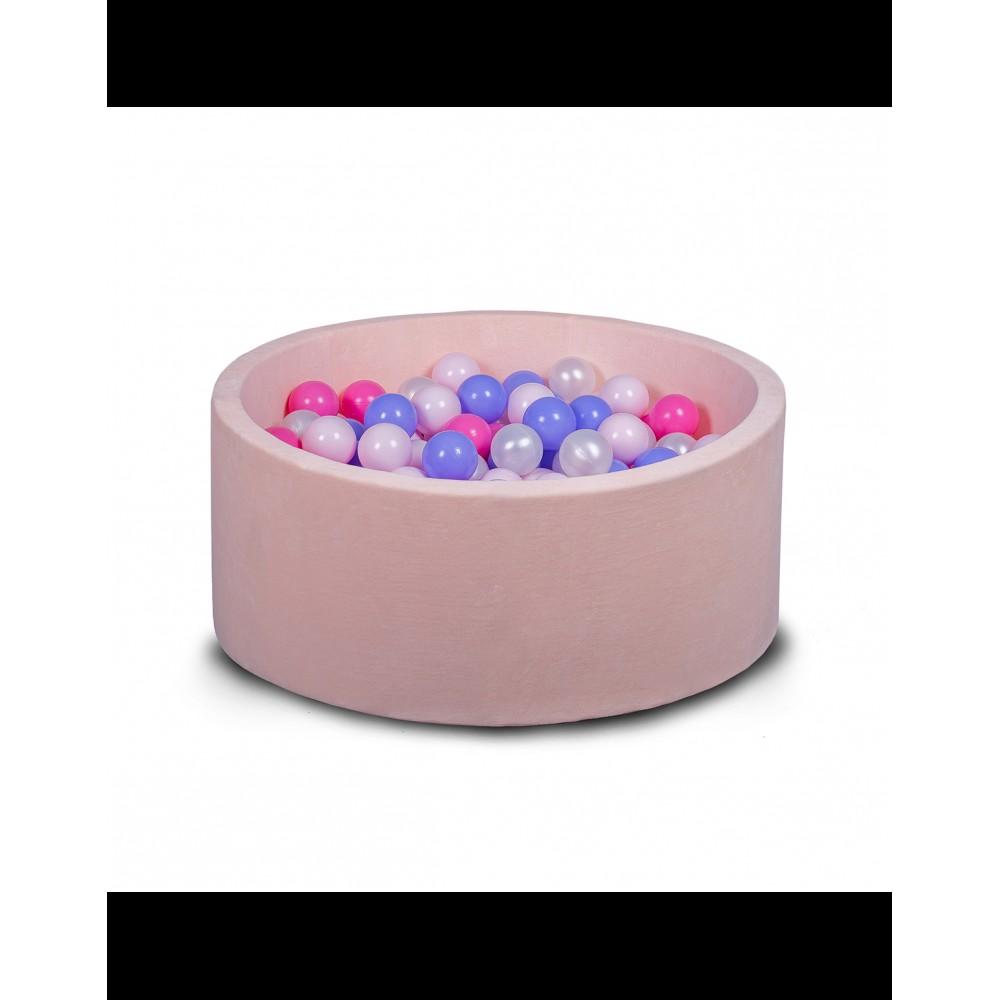 Бассейн для дома сухой 100 см, детский, нежно-розовый
