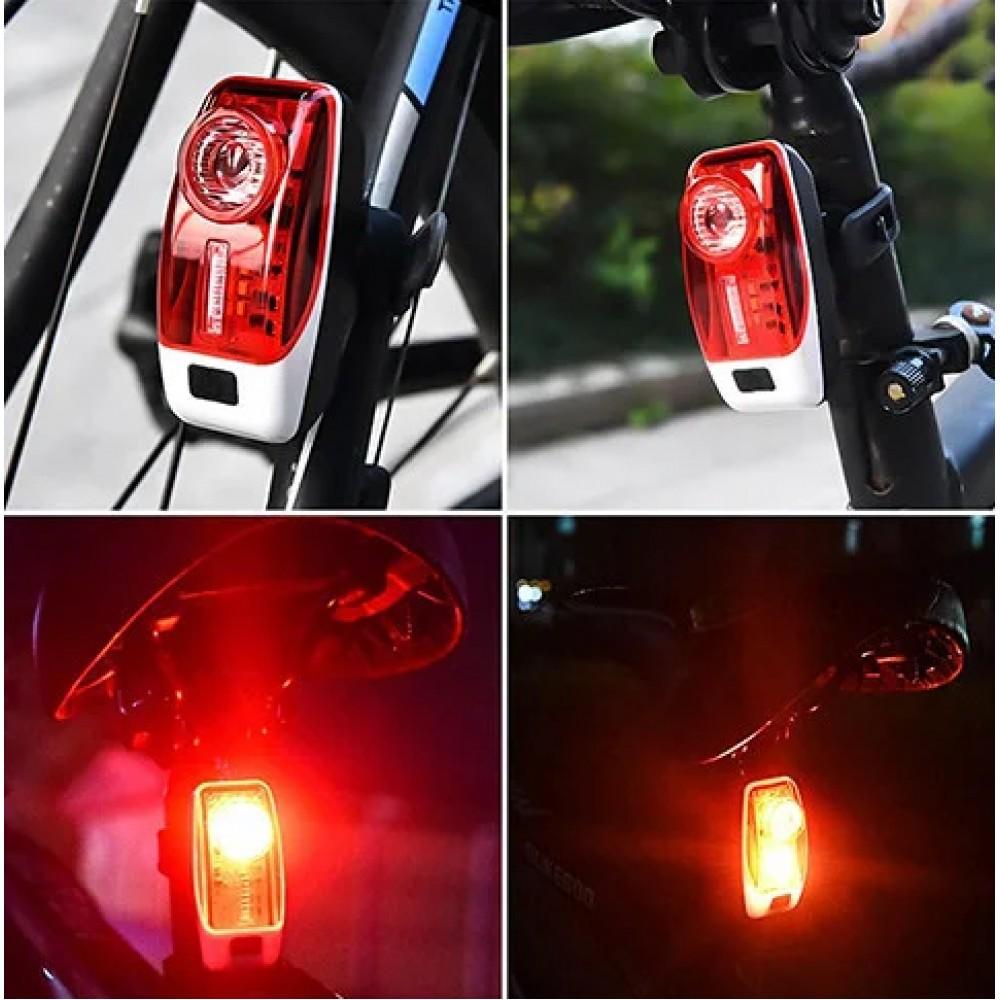 Велосипедный фонарь XH-207 3 LED задний габаритный