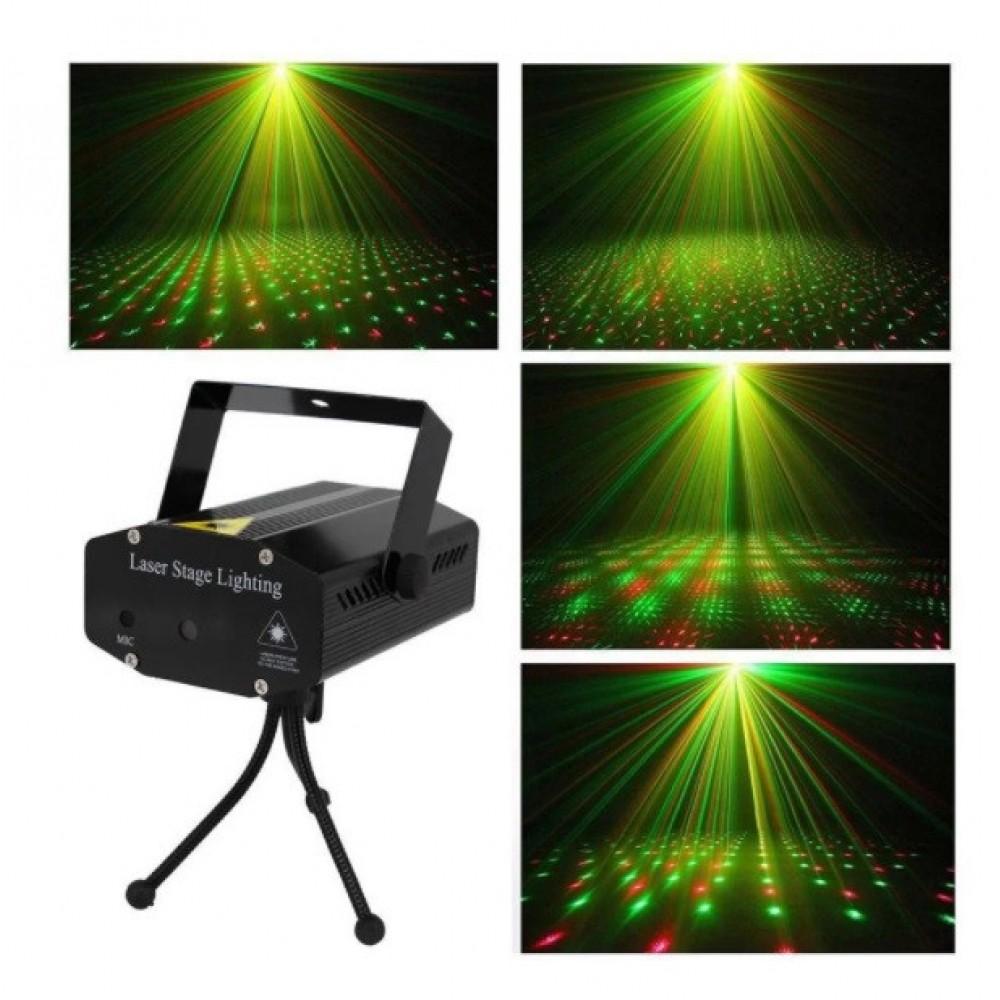 Лазерный проектор UKC HJ08 4 в 1 c триногой Black 4053