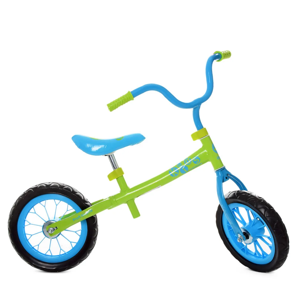 Детский беговел Profi Kids 12 дюймов M 3255-4, салатово-голубой