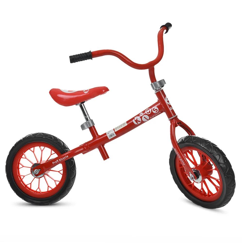 Беговел детский на надувных колесах Profi Kids 12 д. HUMG1207A-1, черно-красный