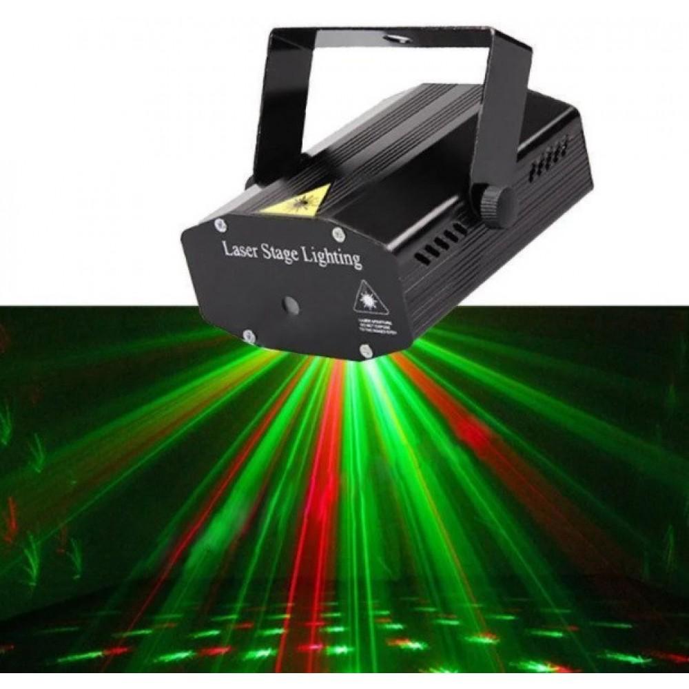 Лазерный проектор UKC HJ09 2 в 1 c триногой Black 2481