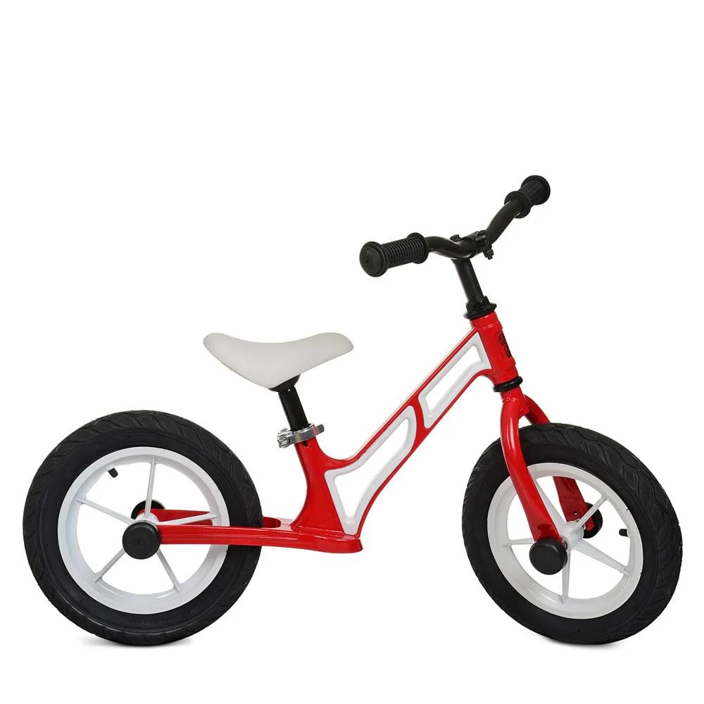 Беговел детский на надувных колесах Profi Kids 12 д. HUMG1207A-2, красно-белый