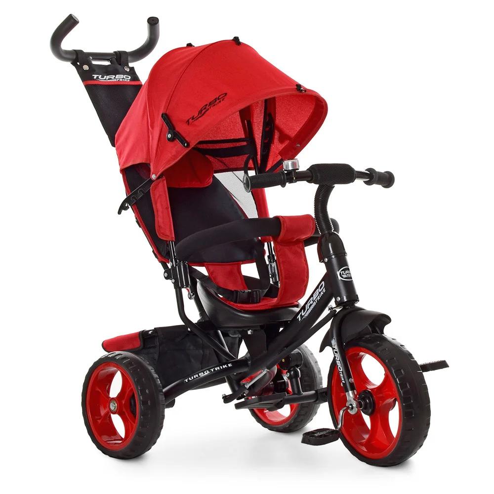 Детский трехколесный велосипед Turbo Trike M 3113-3L, красный лен