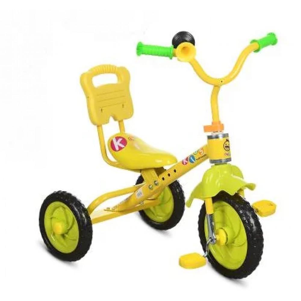 Трехколесный велосипед Bambi M 1190, желтый