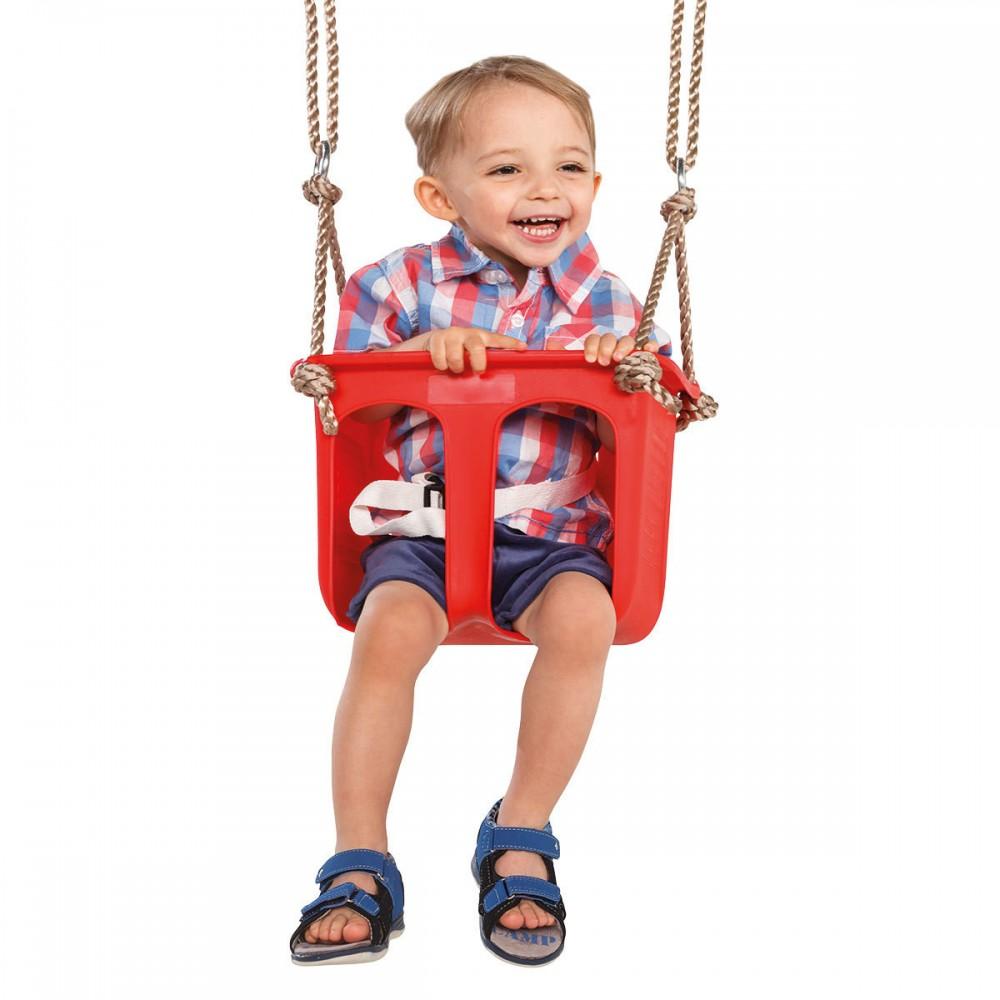 Детская качеля Rigid Цельное сиденье (красная)
