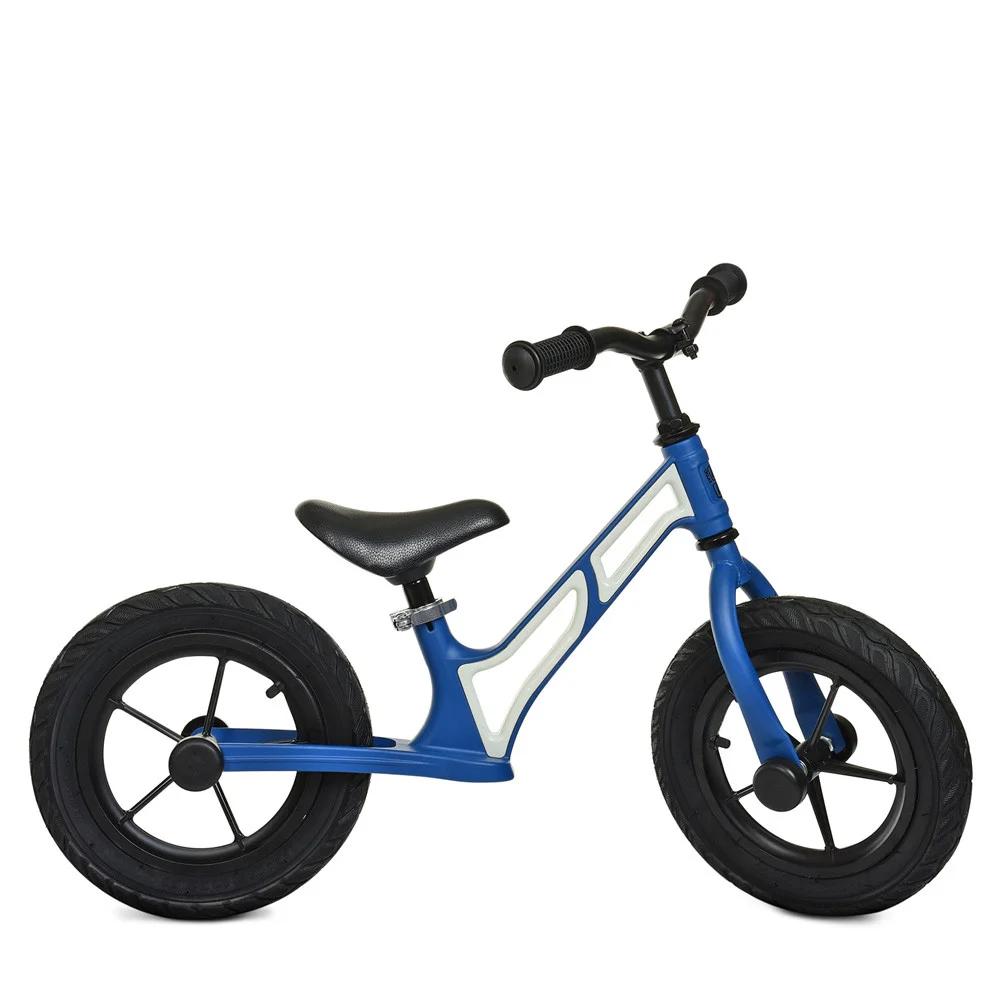 Беговел детский на надувных колесах Profi Kids 12 д. HUMG1207A-3, сине-белый