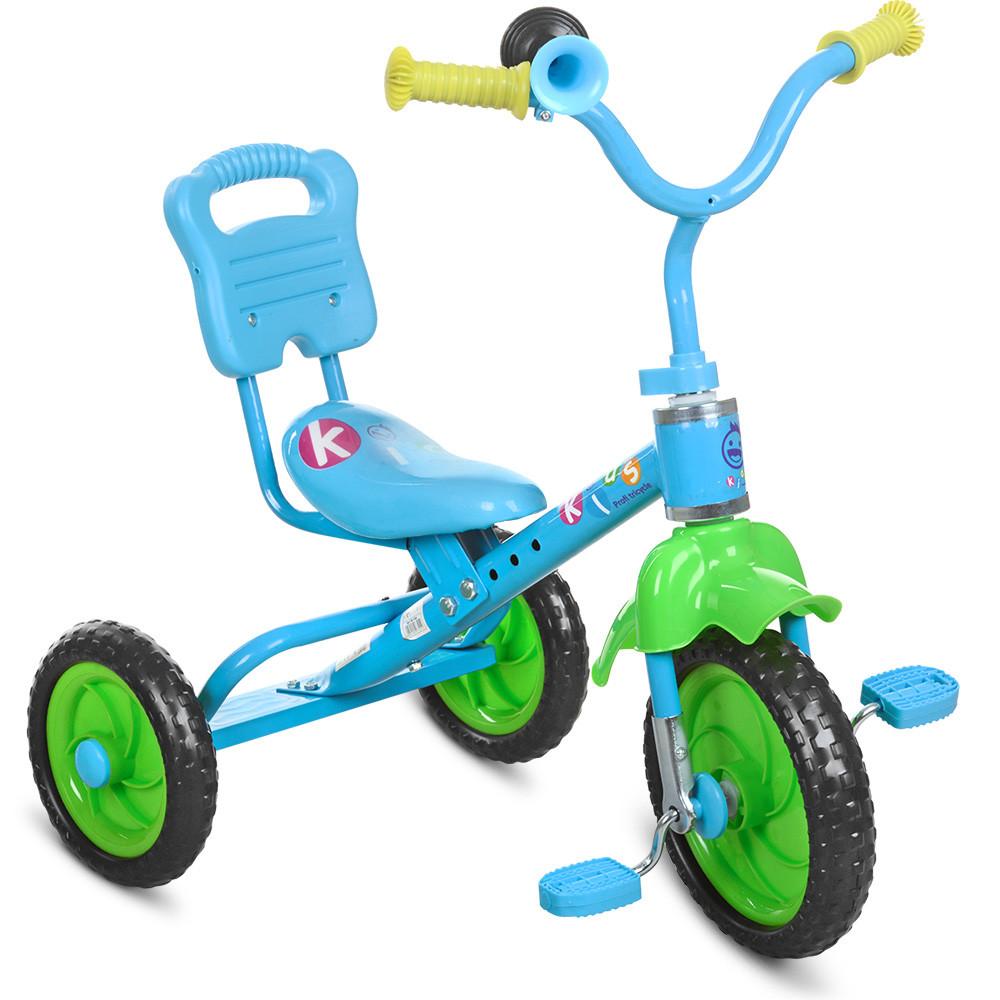 Детский трехколесный велосипед M 1190, 3 колеса, голубой