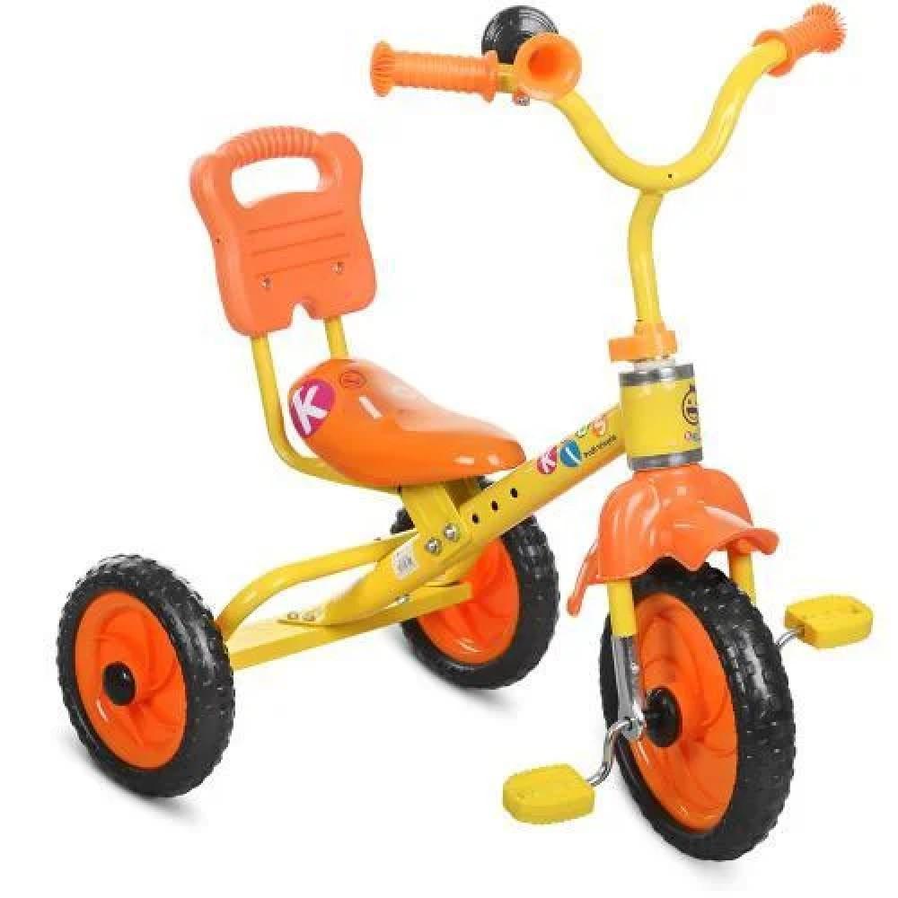 Трехколесный велосипед Bambi M 1190, оранжевый
