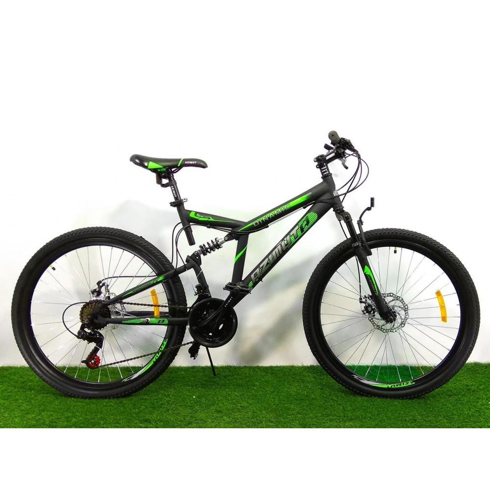 Горный двухподвесный велосипед Azimut Dinamic 26 D+, рама 18,5