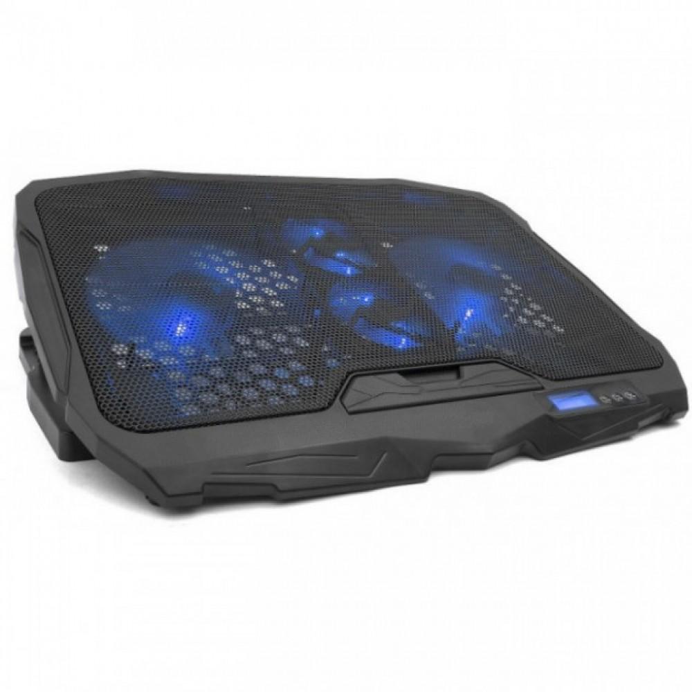 Профессиональная охлаждающая подставка для ноутбука Laptop Cooler S18 с монитором и подсветкой
