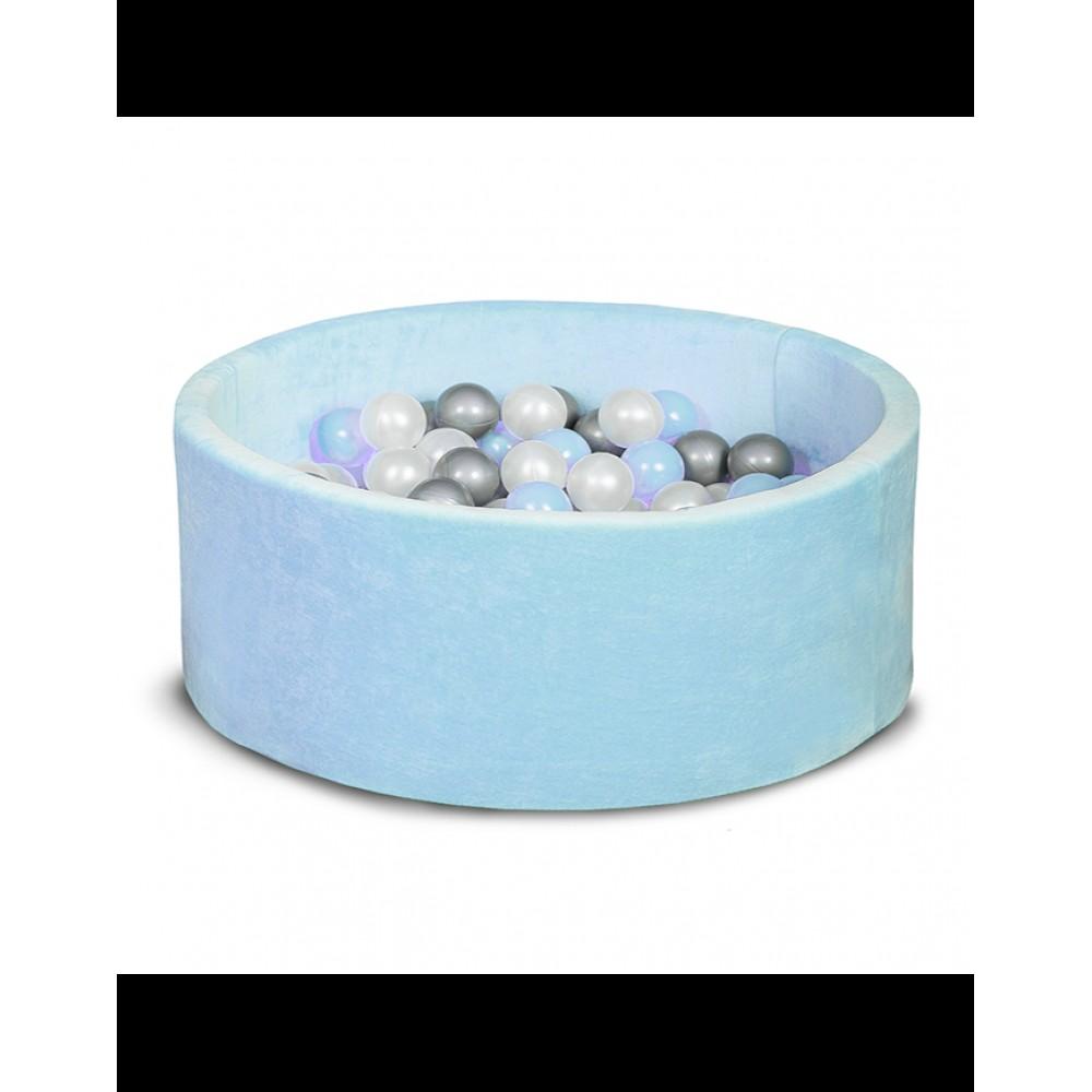 Бассейн для дома сухой 100 см, детский, голубой