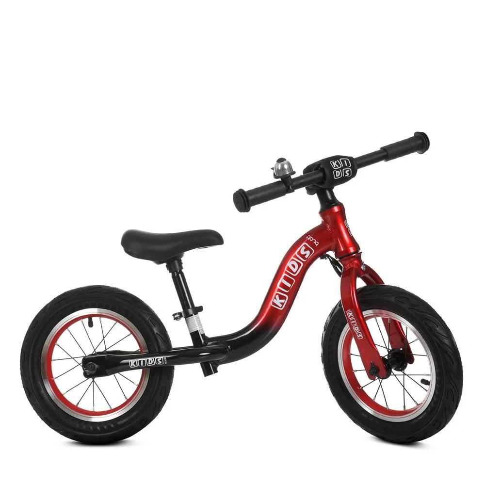 Детский беговел 12 дюймов Profi Kids ML1203A-1, черно-красный