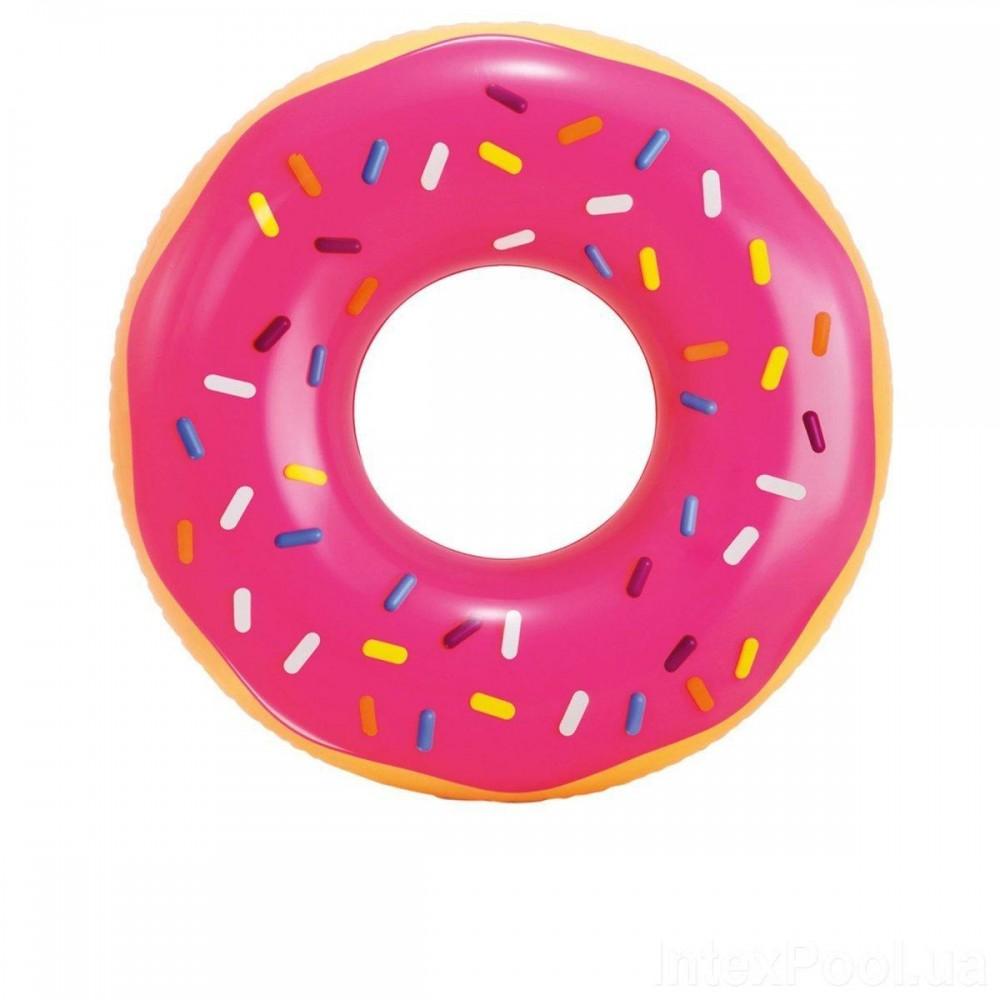 Надувной круг Intex 56256 «Розовый пончик», 99 х 25 см