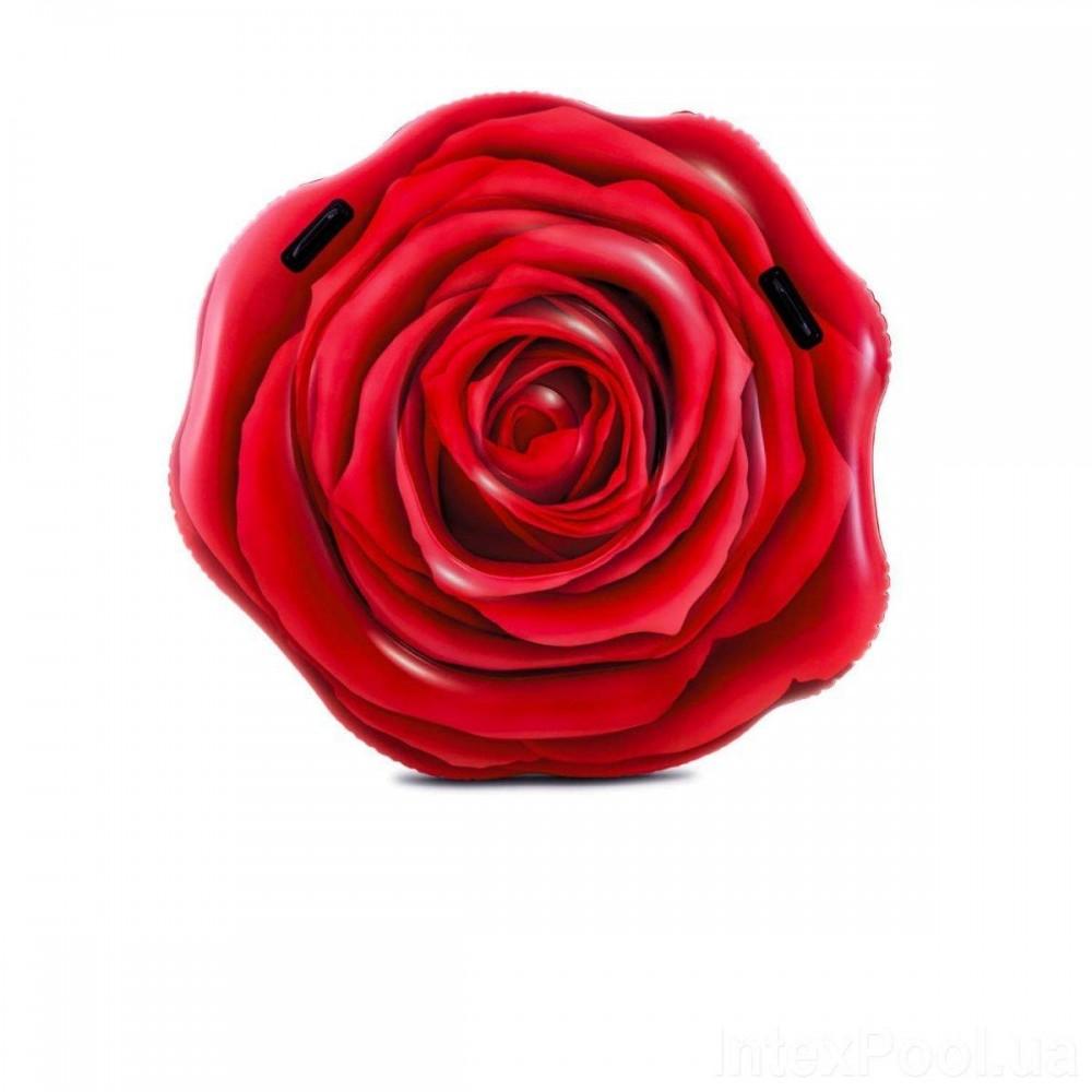 Пляжный надувной матрас Intex 58783 «Роза», 137 х 132 см