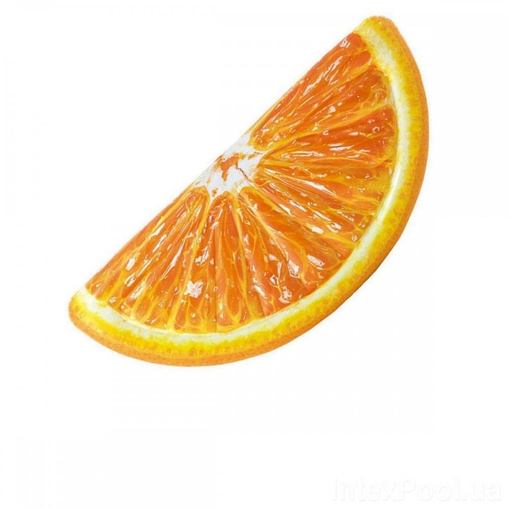 Пляжный надувной матрас Intex 58763 «Долька Апельсина», 178 х 85 см