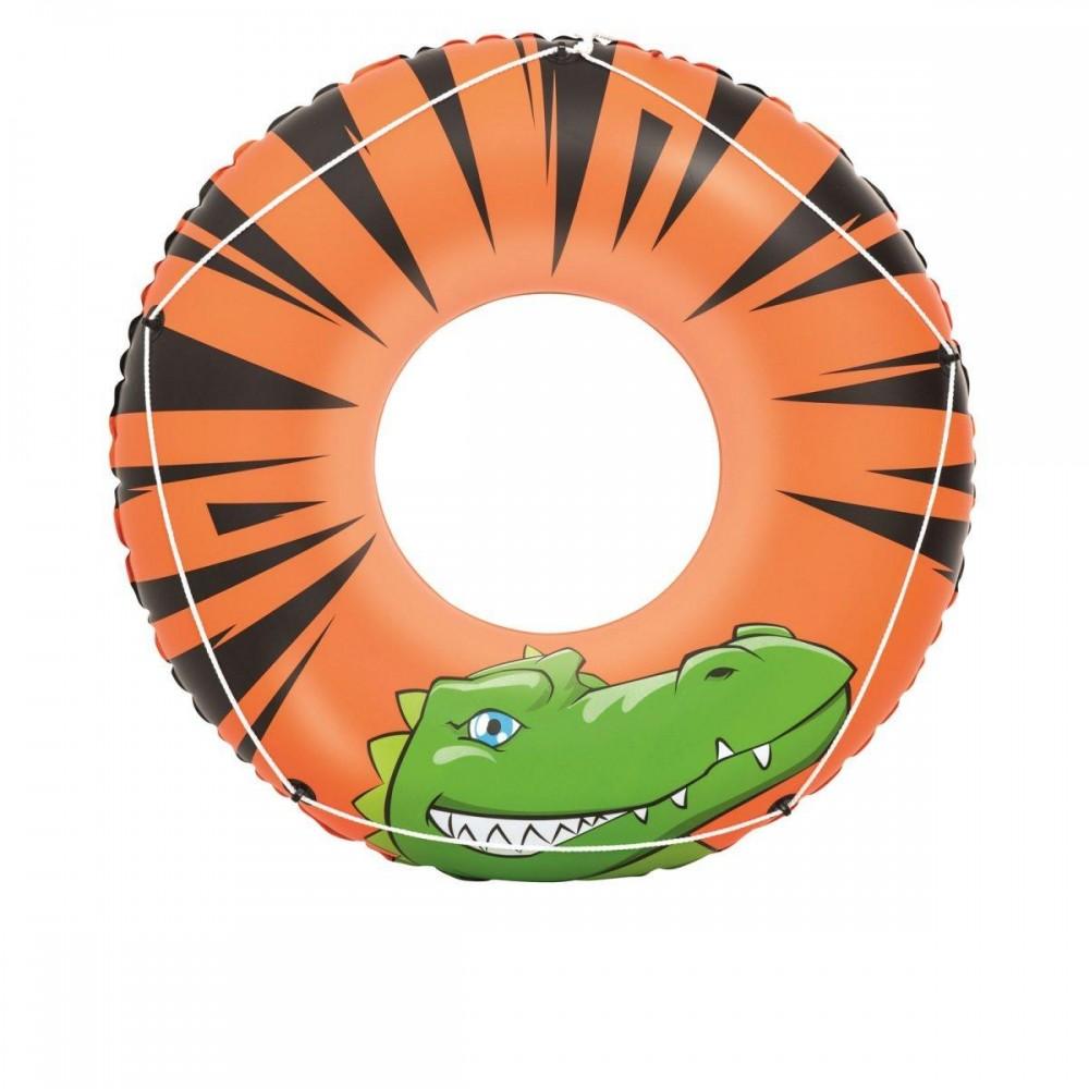 Надувной круг Аллигатор со шнурком Bestway 36108