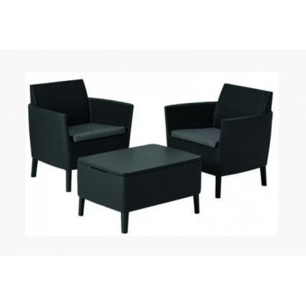 Набор мебели Allibert Salemo balcony set grey