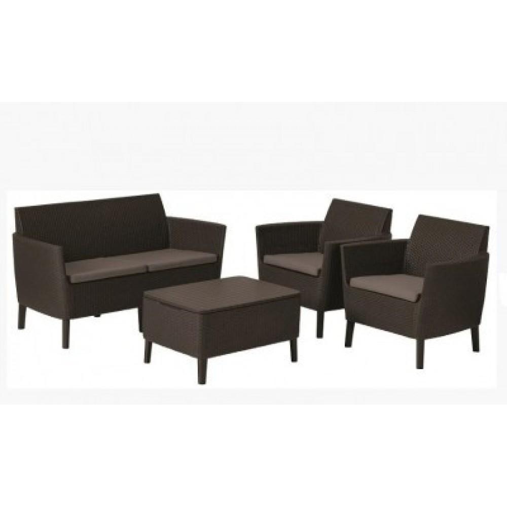 Набор мебели Allibert Salemo set brown