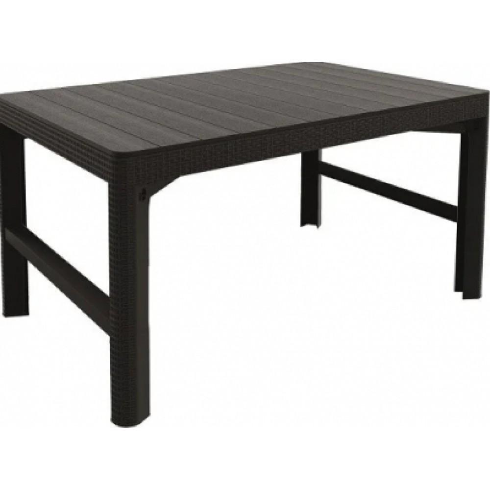 Стол Allibert Lyon rattan table искусственный ротанг grey