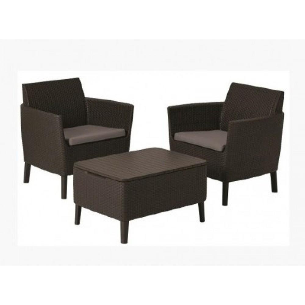 Набор мебели Allibert Salemo balcony set brown