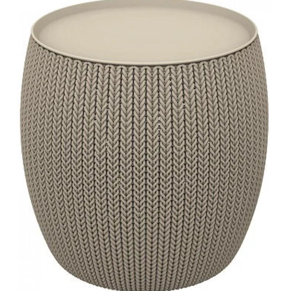 Стол-сундук Keter Knit (Cozies) Table beige