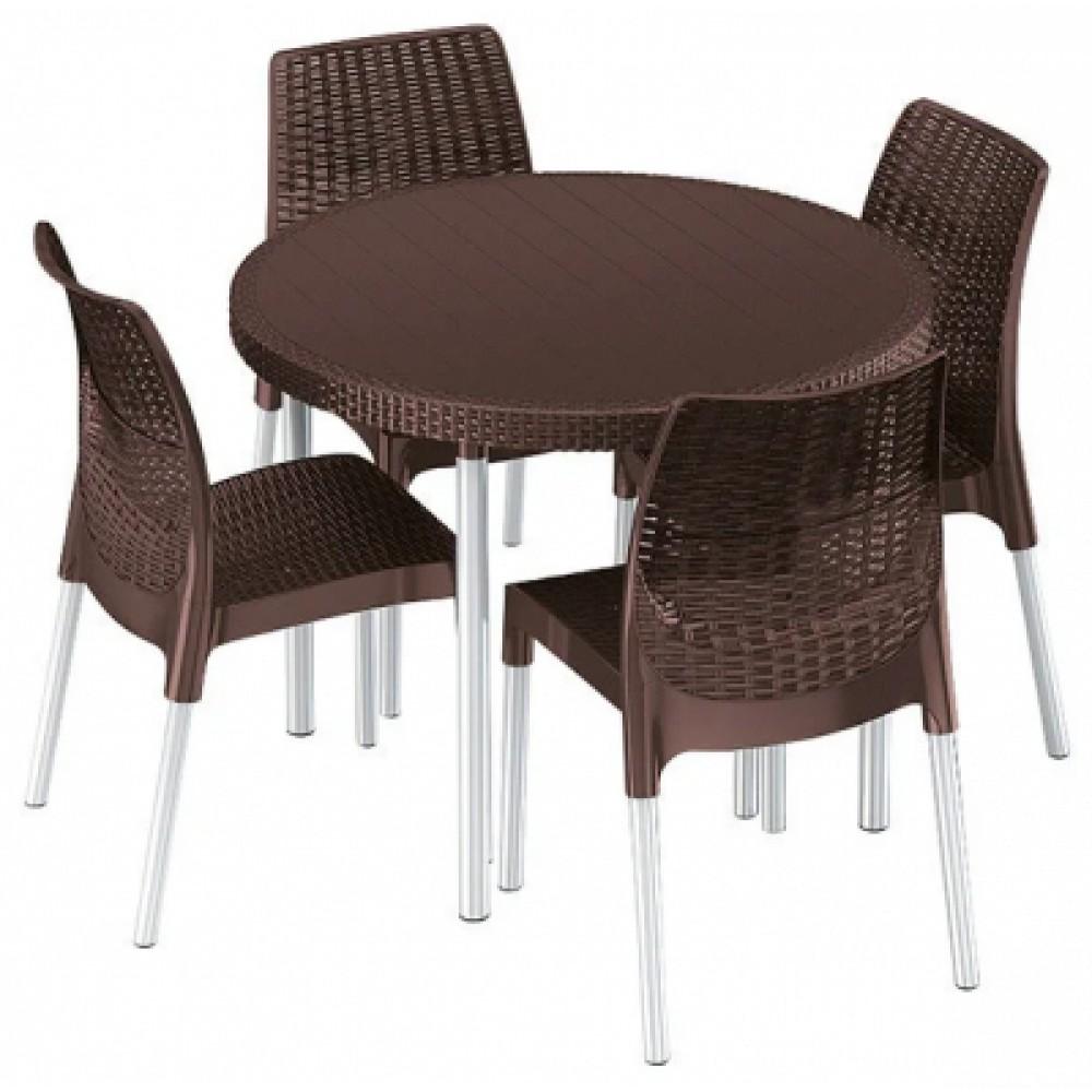 Комплект садовой мебели Keter Jersey set brown