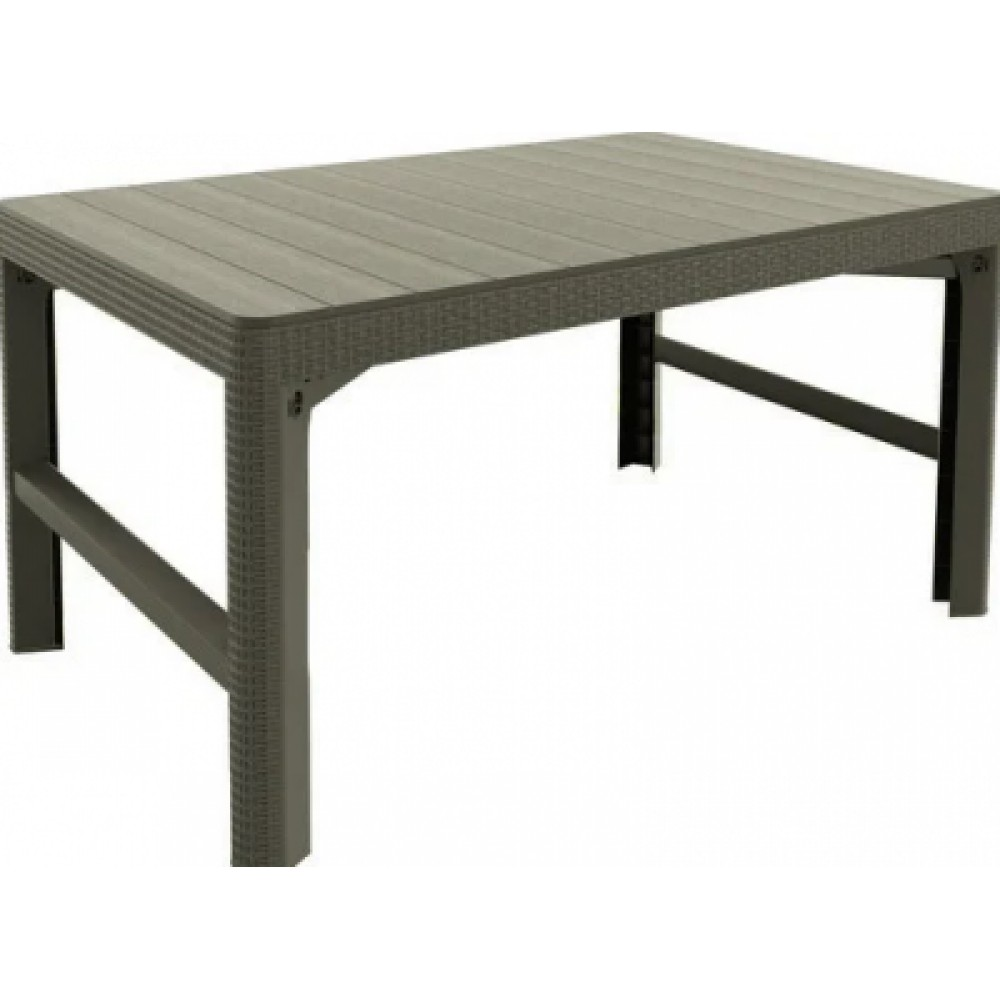 Стол Allibert Lyon rattan table искусственный ротанг beige