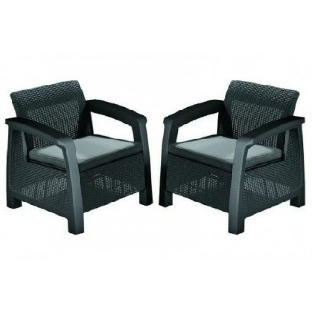 Кресло Keter Bahamas Duo graphite
