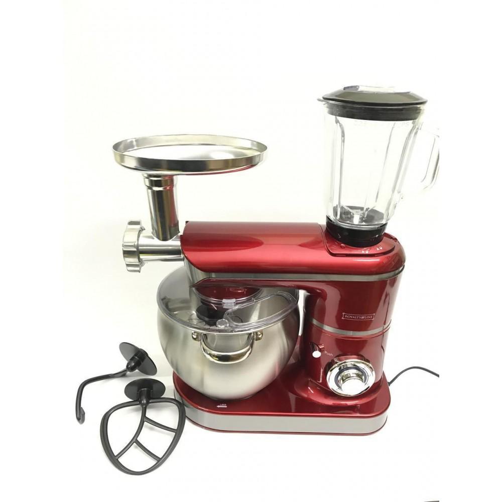 Кухонный комбайн, тестомес, блендер 3 в 1 Royalty Line Red RL-PKM-2200.472.9