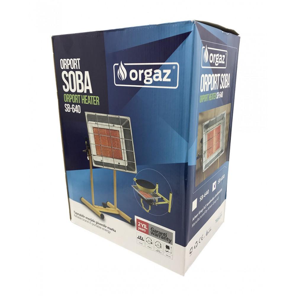 Газовый обогреватель Orgaz 3 кВт (горелка) на подставке