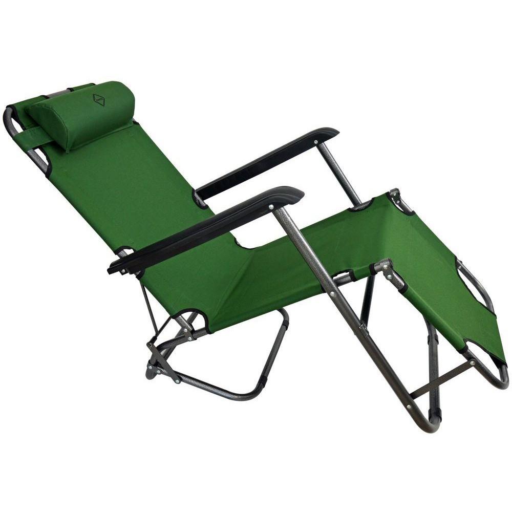 Шезлонг лежак Bonro 160 см темно-зеленый