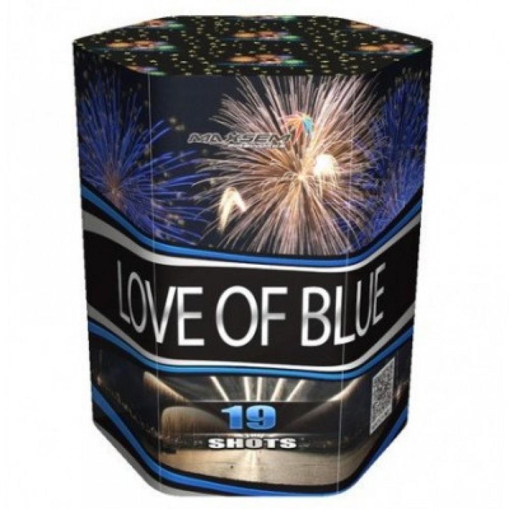 Фейерверк LOVE OF BLUE SB19-02, 19 выстрелов