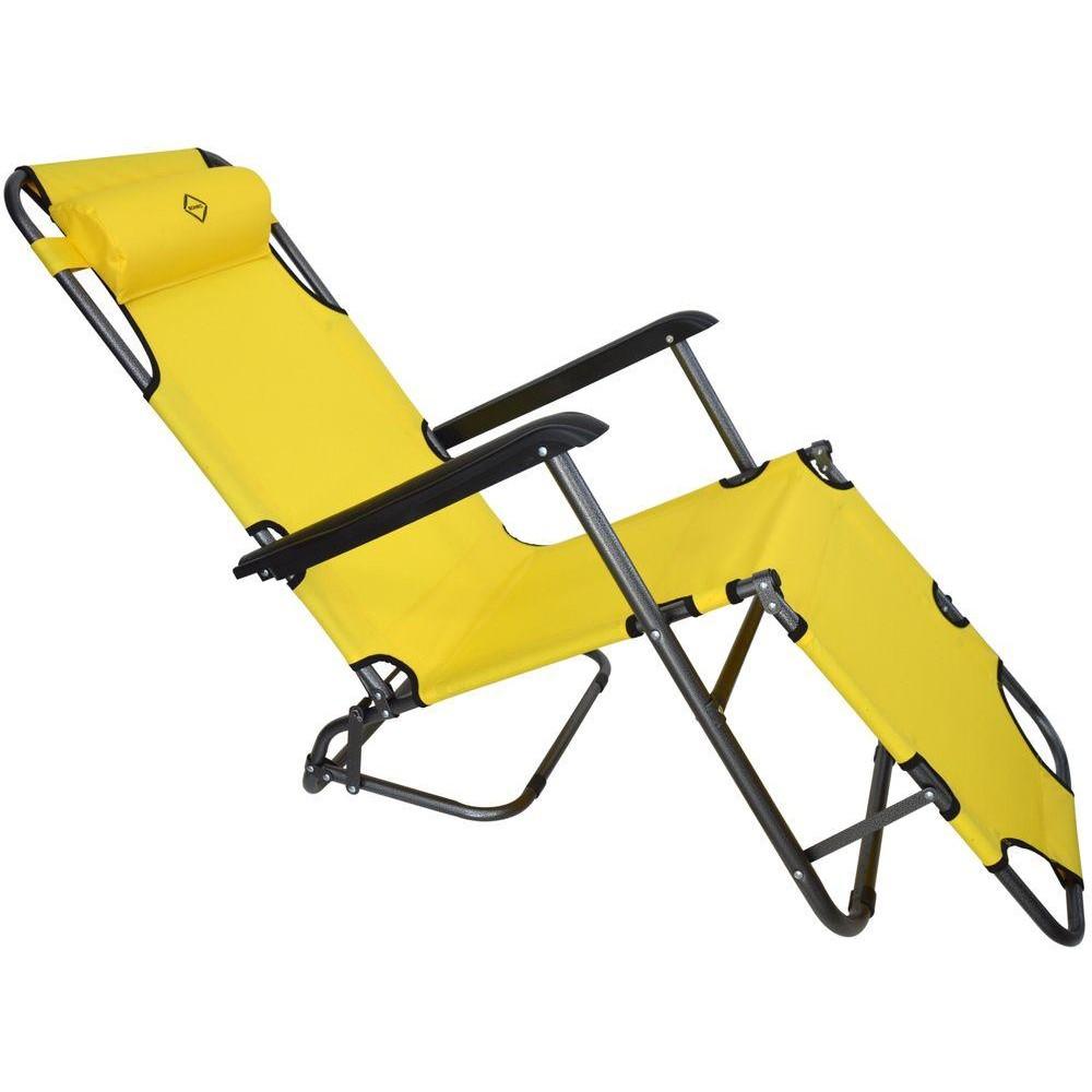 Шезлонг лежак Bonro 178 см жолтый